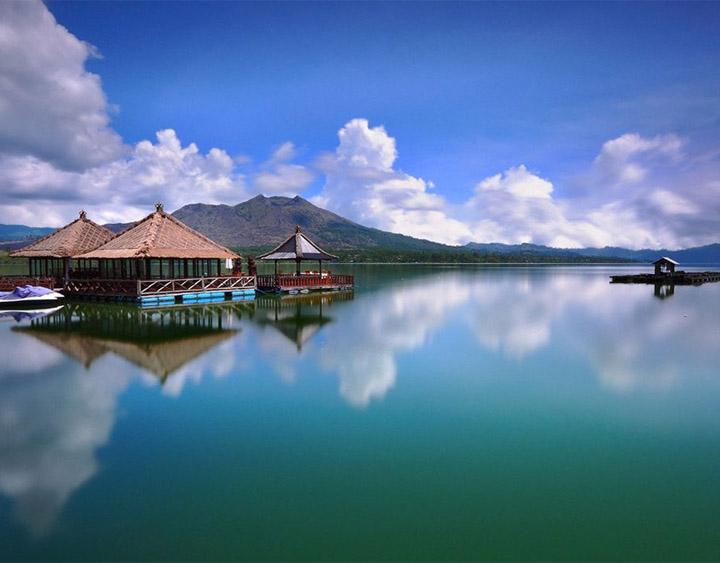 Mt. Batur volcano and Lake Batur